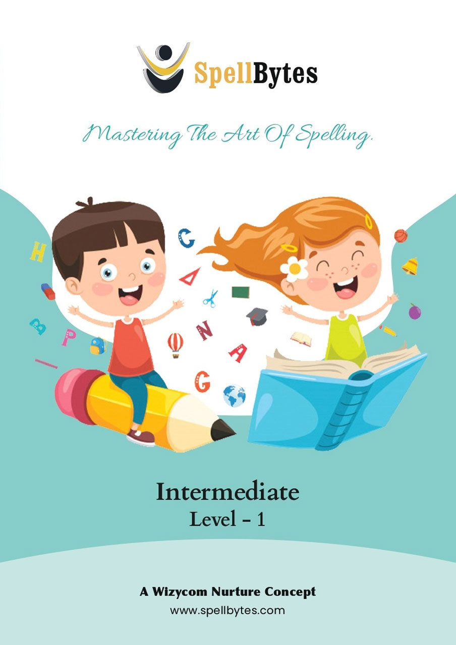 intermediate book for spellbee learning and improve english language